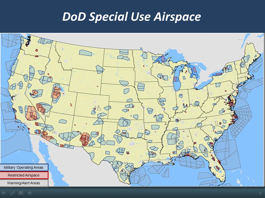 Unmanned Aircraft Systems UAS - Prohibited airspace map