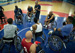 Grant Moorhead, the U.S. team's wheelchair basketball coach, gives instructions to the players during practice.