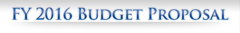 DEPARTMENT OF DEFENSE: FY 2016 Budget Proposal