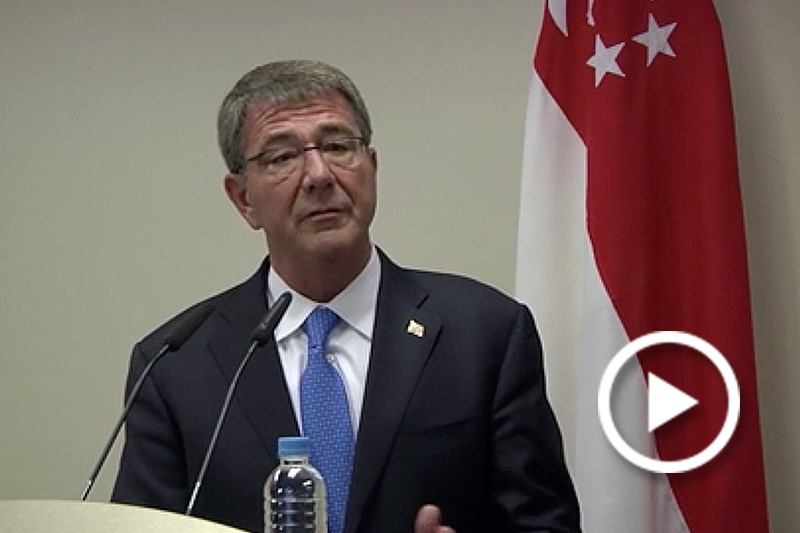 Click to watch video of Carter News Conference in Singapore