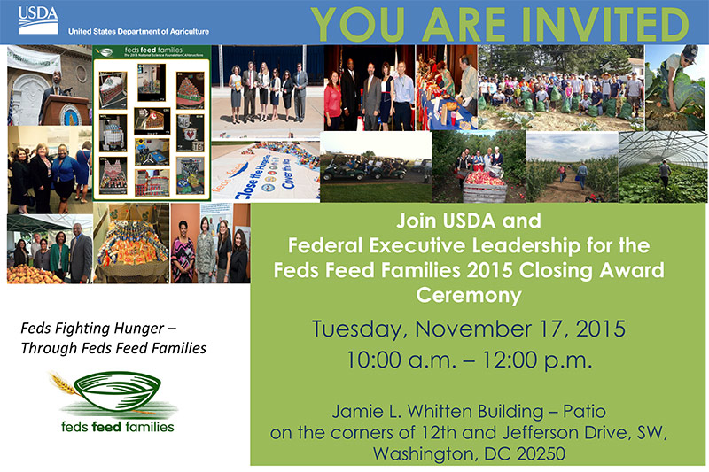 Feds Feed Families 2015 Closing Award Ceremony Poster
