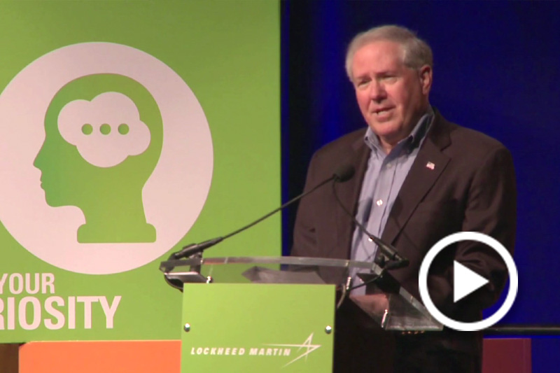 Screen grab of Frank Kendall, Under Secretary of Defense for Acquisition, Technology and Logistics, speaking at a podium.