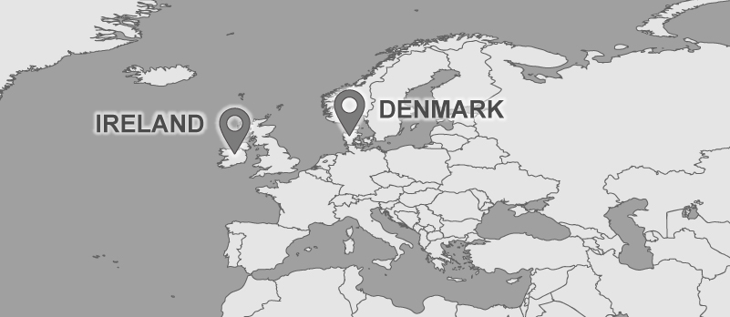 Dempsey Travel Map: Denmark and Ireland