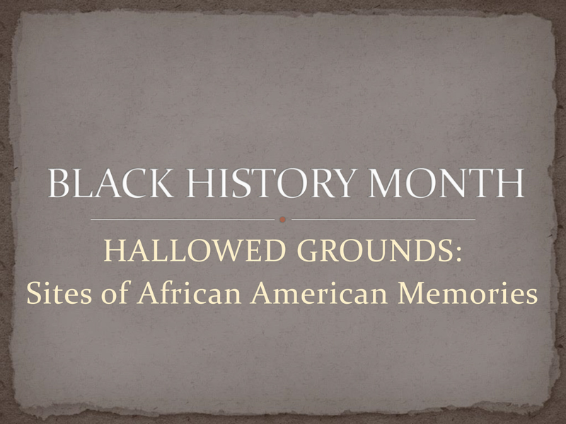 Black History Month 2016 PowerPoint Presentation Cover Page