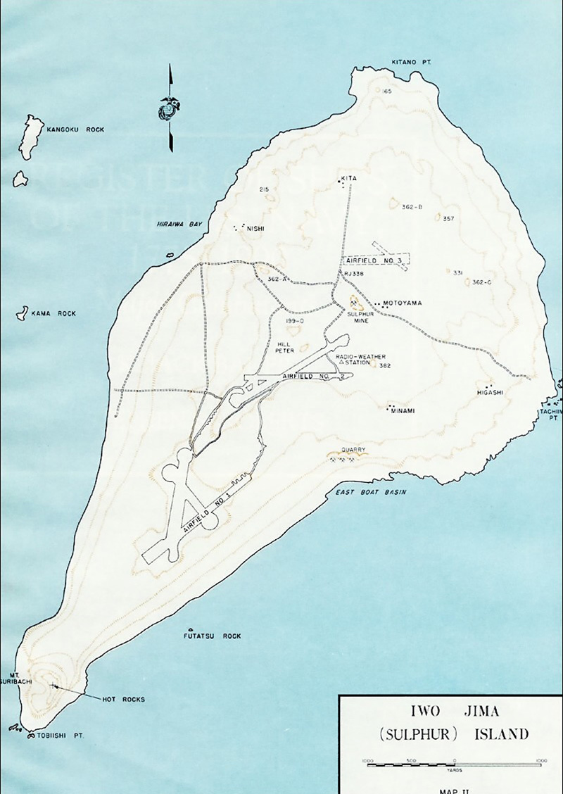 Map of Iwo Jima