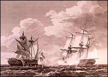 Representation of the U.S. Frigate United States, Stephen Decatur Esqr. Commander, Capturing His Britannic Majesty's Frigate Macedonian