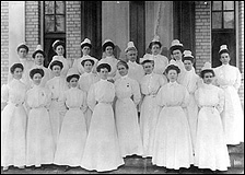 Group photograph of the first twenty Navy Nurses, appointed in 1908.