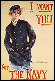 A 1917 recruitment poster for women to join the United States Navy.