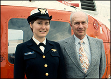 Janna Lambine became the first female designated as a Coast Guard aviator.