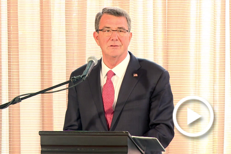 Screen grab of Defense Secretary Ash Carter.