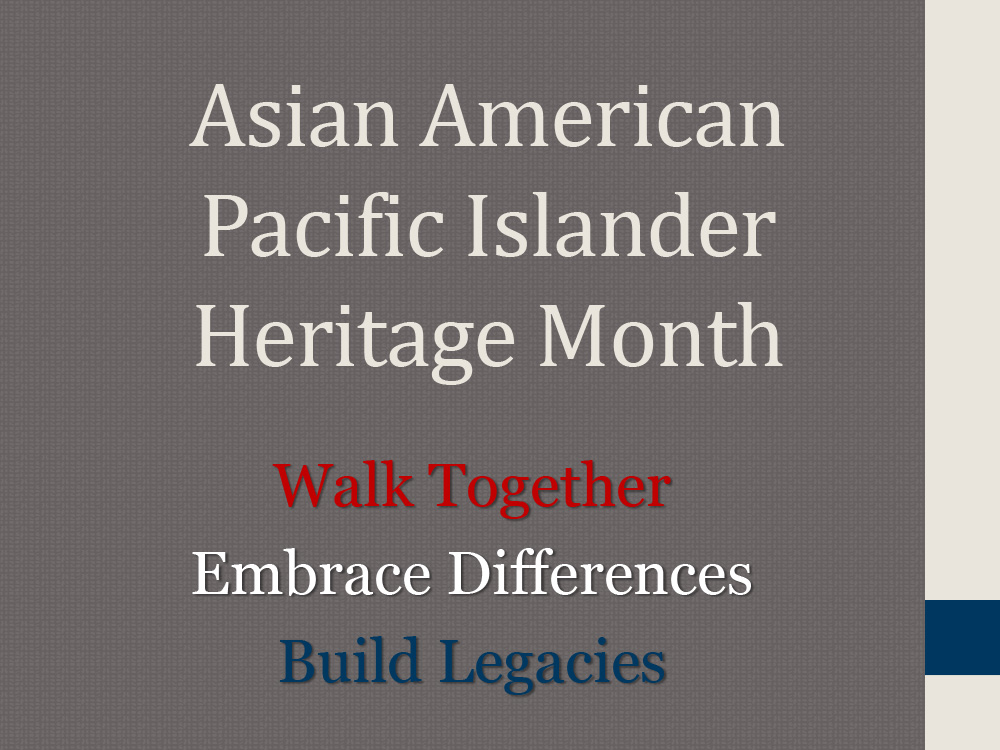Asian American Pacific Islander Heritage Month Presentation Cover.