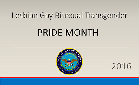 Lesbian, Gay, Bisexual, and Transgender (LGBT) Pride Month Presentation 2016