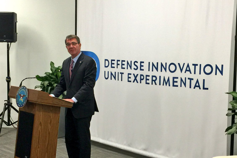 Defense Secretary Ash Carter opens the Defense Department's second Defense Innovation Unit Experiment office in Boston.