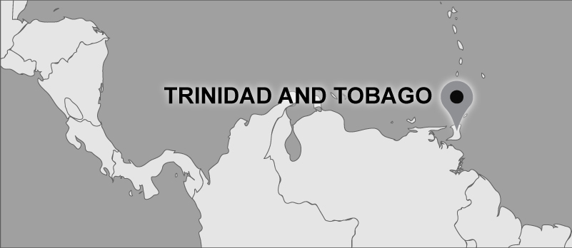 Map of Carter travel locations: Trinidad and Tobago