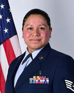 Portrait of Staff Sgt. Irma J. Meza-Orozco