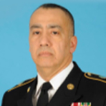 Portrait of Army National Guard Master Sgt. Miguel Sanchez