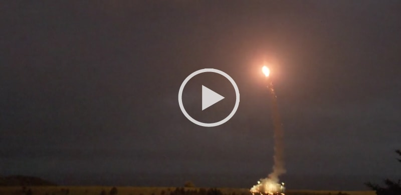 THAAD missile launching