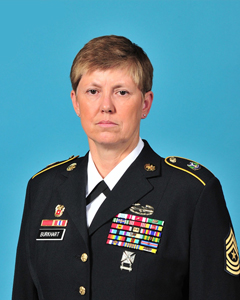 Portrait of Army Command Sgt. Maj. Linda Rebecca Burkhart