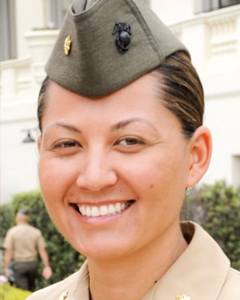Portrait of Marine Corps Major Amber Coleman